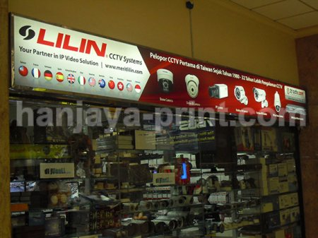 Backlite neon box Lilin CCTV
