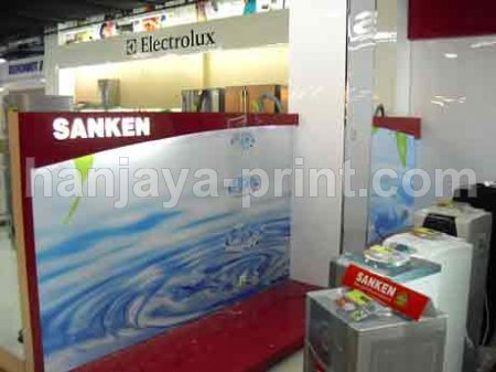 Branding Stiker Wallpaper Booth Sanken